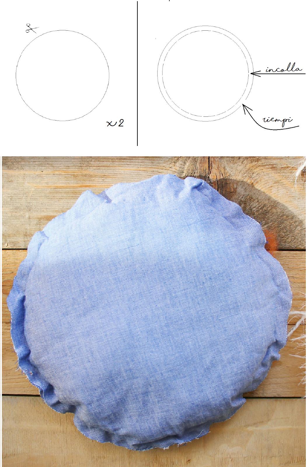Diy Come Realizzare Un Cuscino Rotondo Con Bordino All Uncinetto Chiccacasa