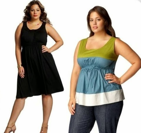 gambar baju santai wanita gemuk