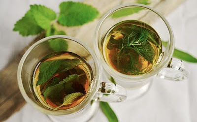 Mint drink for refreshment