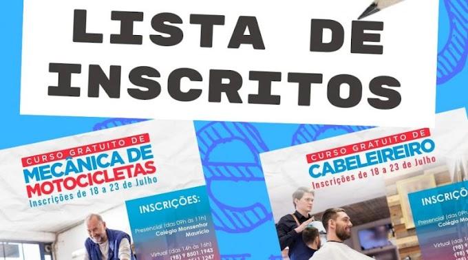 IEMA Vocacional São Bernardo divulga lista de inscritos nos cursos de Mecânica de Motocicleta e Cabeleireiro
