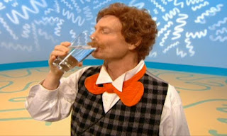 Mr. Noodle begins to drink water from a glass. That's not winking. That's drinking. Elmo's World Eyes The Noodle Family