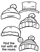 This winter snowman activity is perfect to review parts of speech!  This printable will look great lining lockers or on a bulletin board display!  Elementary students will have fun with the coloring practice and will thank-you for the worksheet alternative.  These printables are differentiated to fit your needs, simply print the skill you need - nouns, verbs, adjectives, or a combination of all three! {1st grade, 2nd grade, 3rd grade} #partsofspeech #elementaryisland #winteractivityforkids