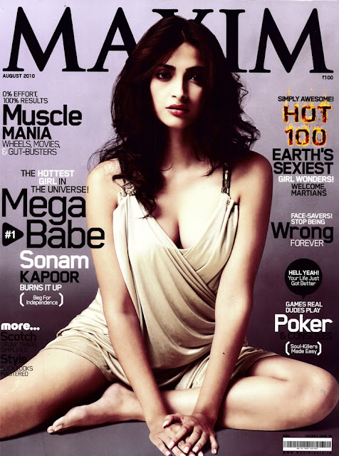 Sonam Kapoor in Sexy Maxim Cover Photo-shoot