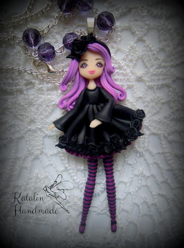 Handmade Gothic Harajuku Fashion W H Naoto Spiderweb Bag: Katalin Handmade: Gothic Lolita