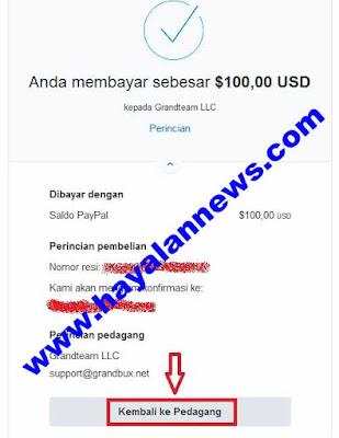 8 Langkah cara cepat add funds ptc grandbux dengan saldo paypal