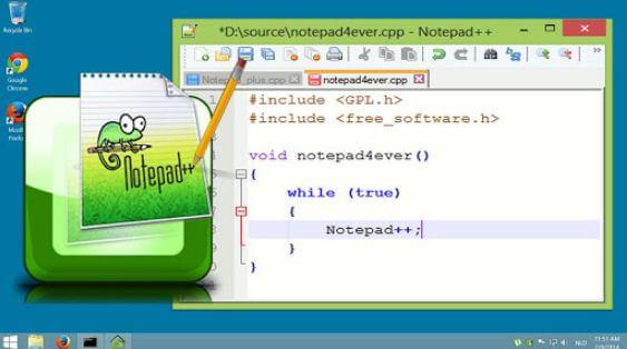 برنامج, المفكرة, نوت, باد, بلس, Notepad++