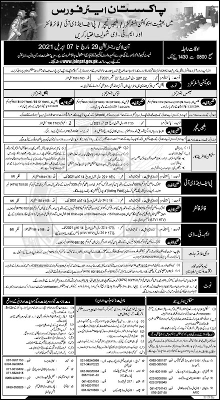 Pakistan air force paf jobs 2021 latest