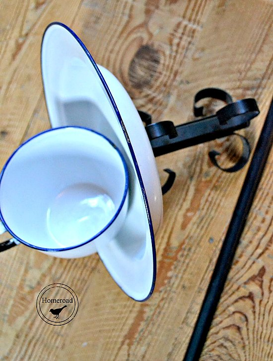DIY Enamelware Tea Cup Bird Feeder