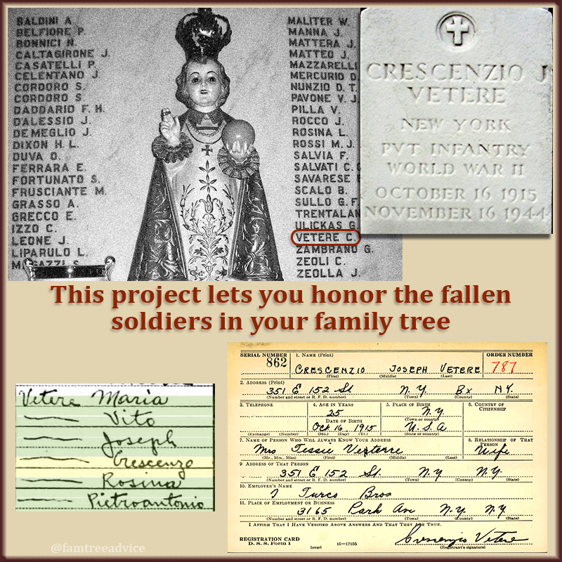With so many familiar names, were any of my uncle's fellow soldiers related to us?
