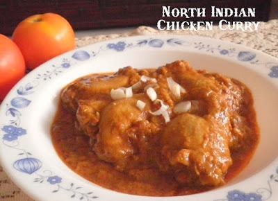 North Indian Chicken Curry Recipe @ treatntrick.blogspot.com