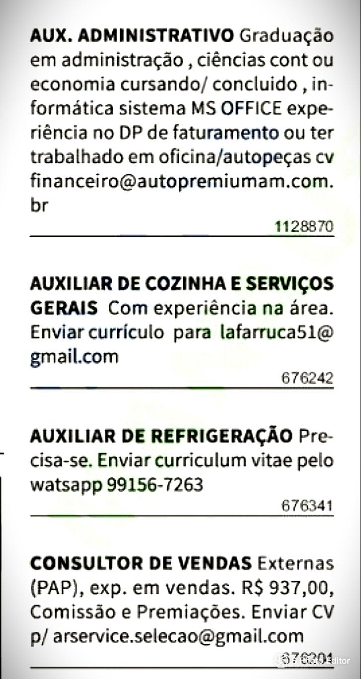 Enviar Curriculo Aqui Vagas De Empregos Em Manaus