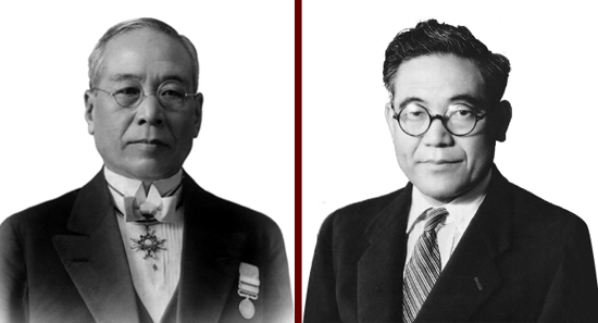 Sakichi Toyoda and his son Kiichiro Toyoda