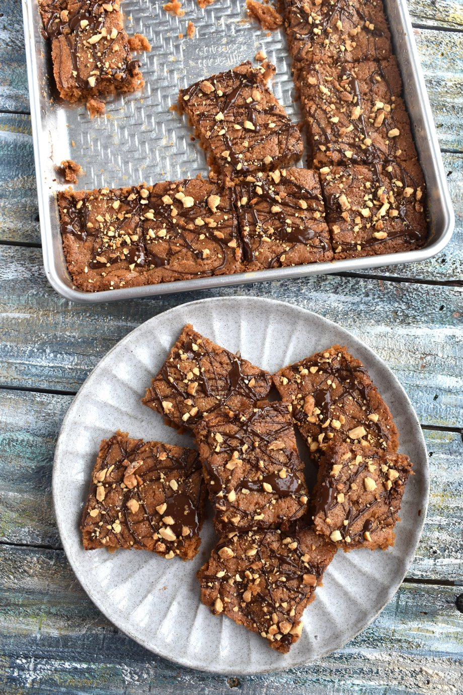 chocolate peanut butter cookie squares