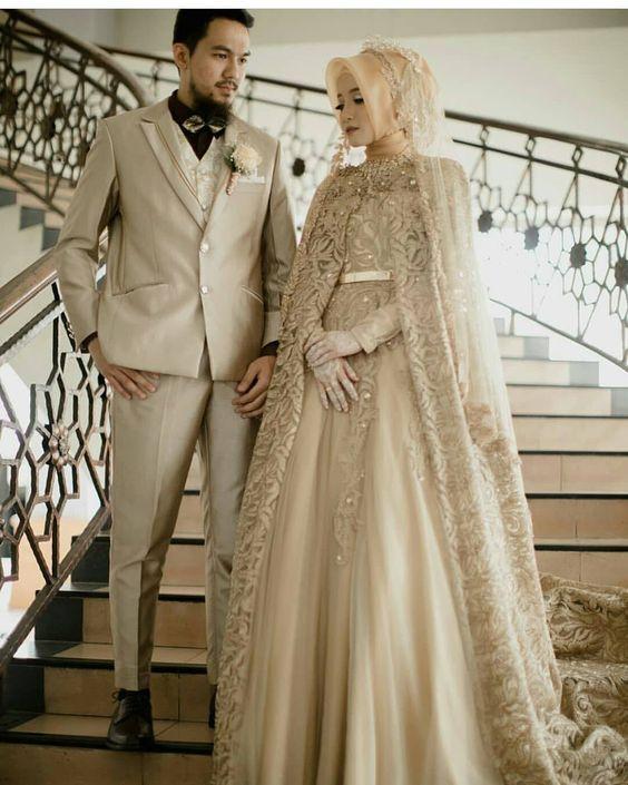 824bd726ca314 أرقي وافخم فساتين زفاف للمحجبات ذات تصميم تركي لعام 2019