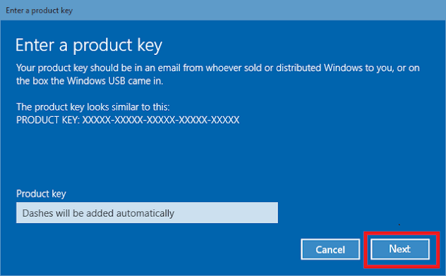 15. Masukkan 25 digit Product Key Windows 10 - Windows 10 Product Key