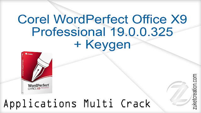 Corel WordPerfect Office X9 Professional 19.0.0.325 + Keygen