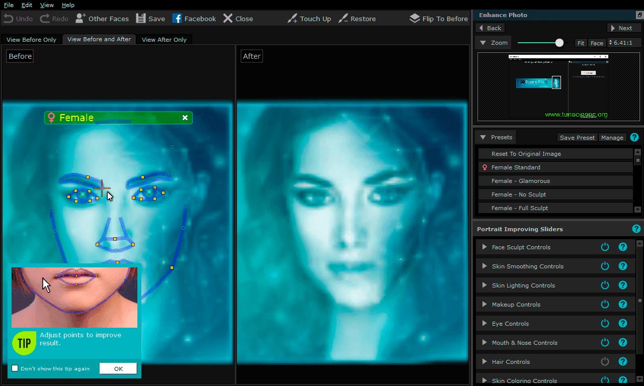 Mejora tus fotografías utilizando Anthropics Portrait Professional Standart