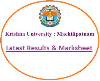 Krishna University UG Results 2020