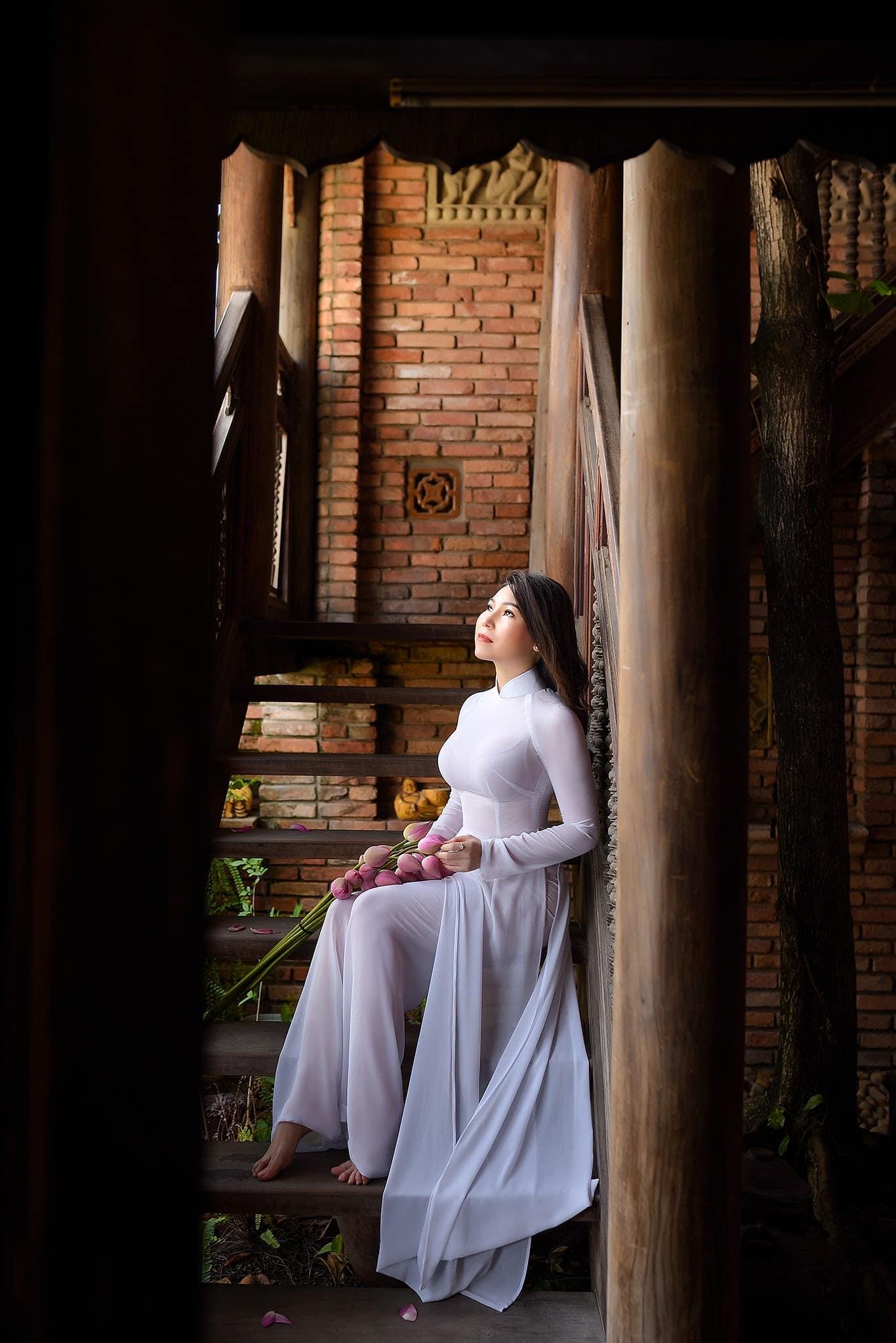 Tuyển tập girl xinh gái đẹp Việt Nam mặc áo dài đẹp mê hồn #57 - 4