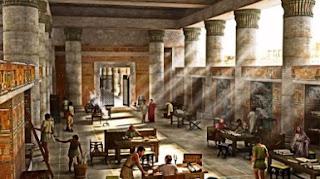 sala biblioteca d'alessandria ricostruzione ideale