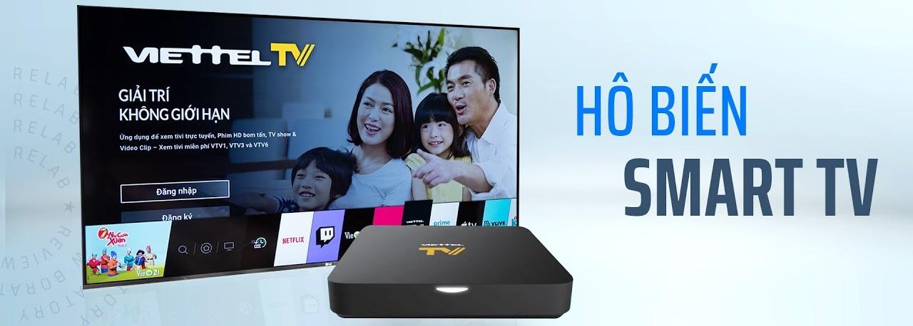 Gói combo: Internet cáp quang + Truyền hình ViettelTV