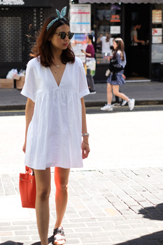 zara white summer dress soho london yumchaa