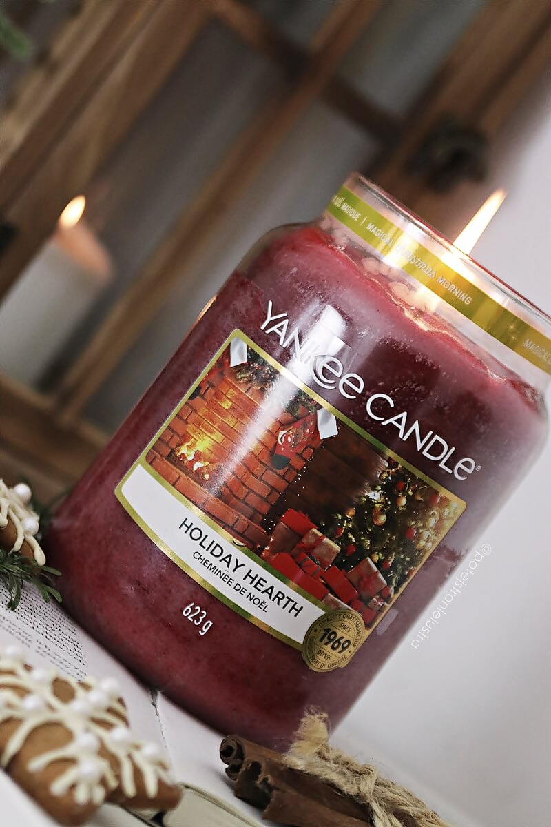 yankee candle holiday hearth etykieta