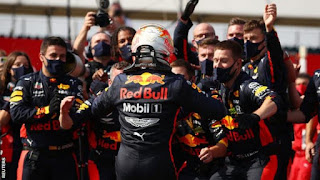 Red Bull claims first as Max Verstappen wins 70th Anniversary Grand Prix to bring Mercedes' domination to an end