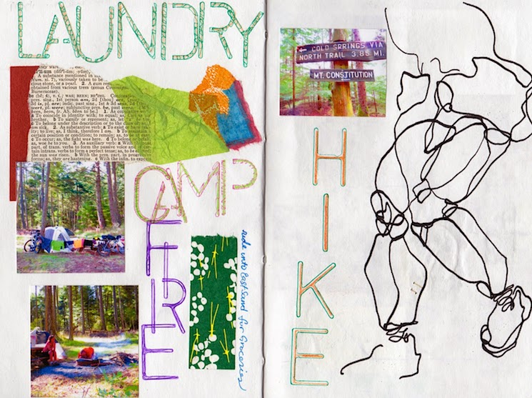 art journal,  moran state park on orcas island