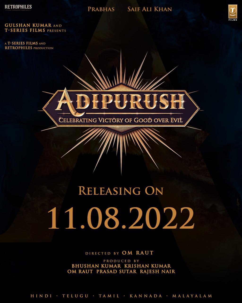 Prabhas' Adipurush release date