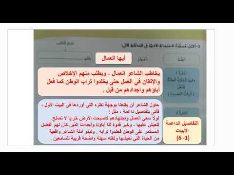 التشبيه والفعل الصحيح لغة عربية صف سابع 1443