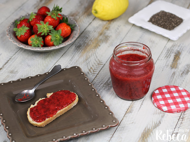 Mermelada de fresas sin azúcar