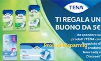 Logo Tena ti regala Tena : ricevi un buono da 5€ come premio certo! Come richiederlo!