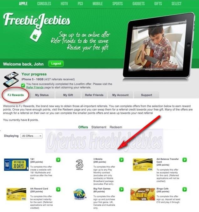 freebiejeebies rewards fj dinheiro prémios prizes ganha