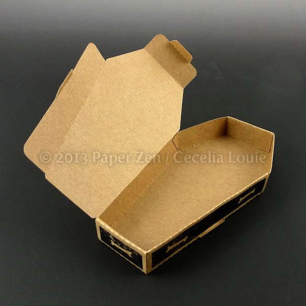 Halloween Paper Coffin Boxes