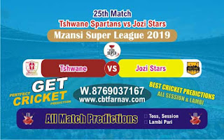 Mzansi Super League Jozi vs Spartans 25th Today Match Prediction Reports