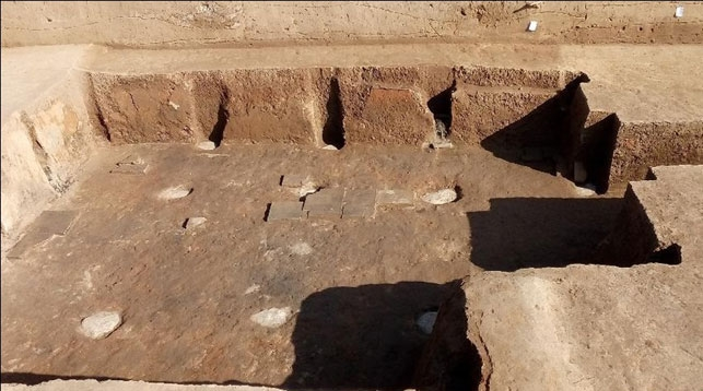 Rare basement, fireplace excavated at 2,400-year-old palace in NW China