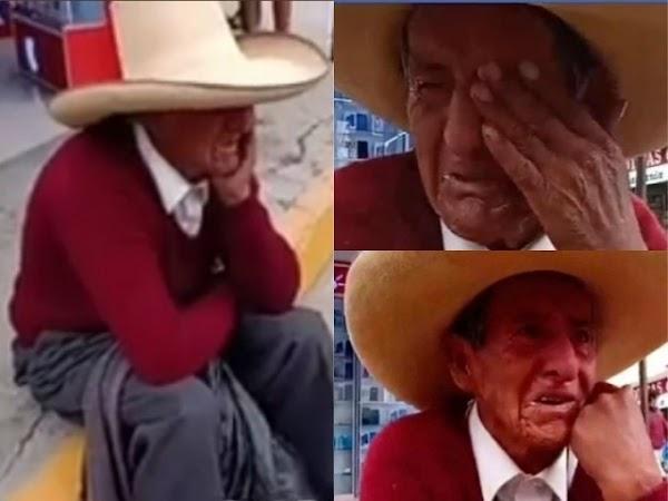 Abuelito llora porque sus hijos le exigen herencia en vida; pide ayuda Difunde.