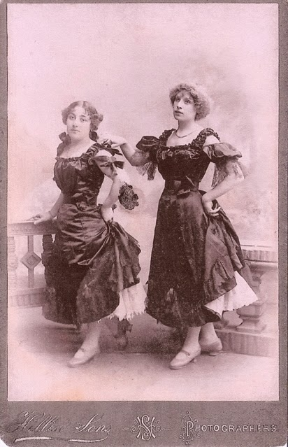 Photo of Sisters Milton in costume for music hall act