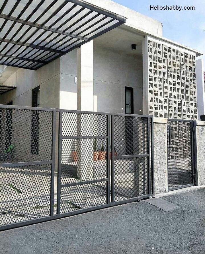 Kumpulan Model Pagar Rumah Minimalis Sederhana Dan Elegan Helloshabby Com Interior And Exterior Solutions