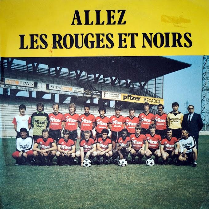 ALLEZ LES ROUGES ET NOIRS. Stade Rennais (1983).