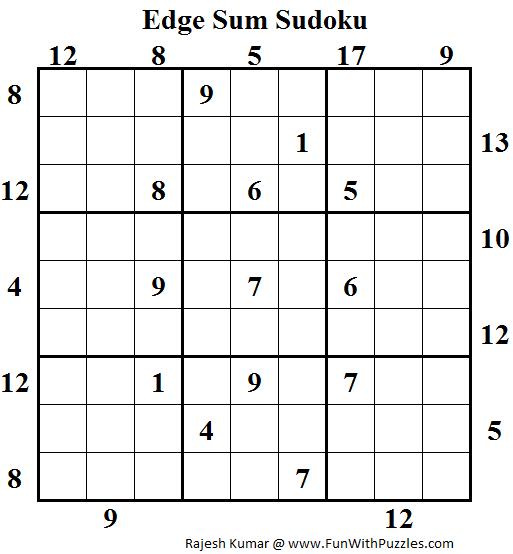 Edge Sum Sudoku (Daily Sudoku League #119)