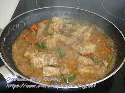 Pork Binagoongan sa Gata Cooking Procedure