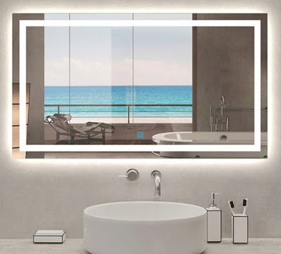 mirrors with built-in LEDs for small bathrooms