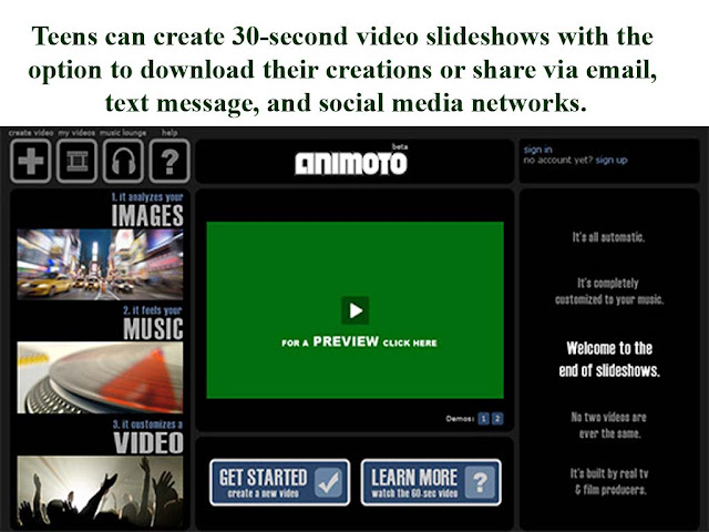 make 30 second video slideshows wth animoto video maker