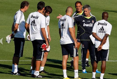 Mourinho manages a training in Valedebebas Sports City