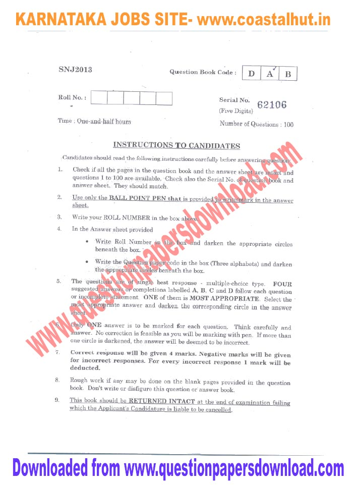 Nursing Written Test Sample Questions Esic Previous Question Paper