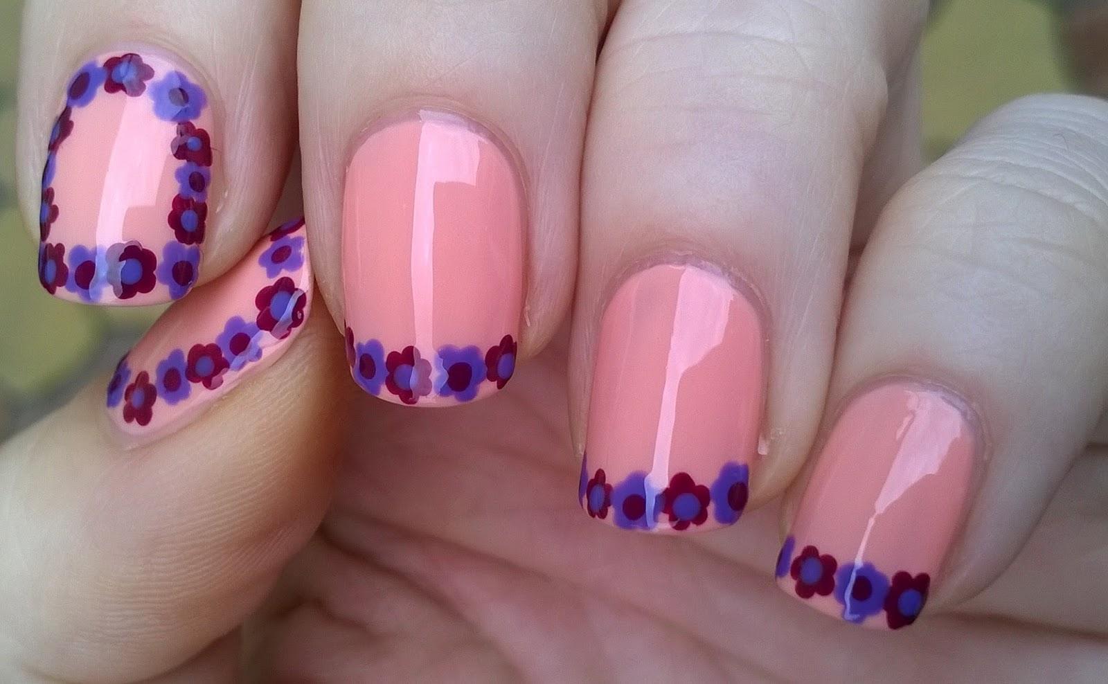 Life World Women Flower Frame Tips Nail Design Toothpick Nails
