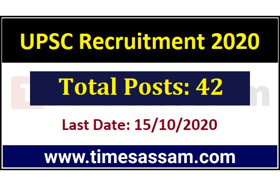 UPSC Job 2020 [42 Posts]