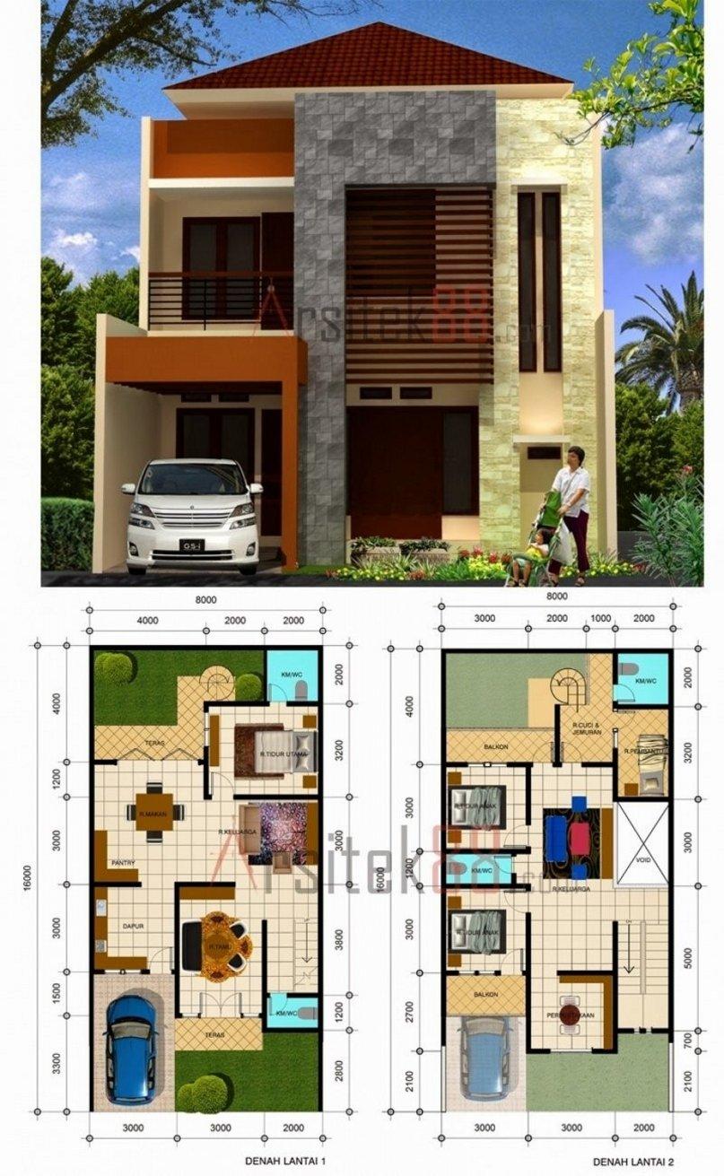 61 Desain Rumah Minimalis 8 X 10 Desain Rumah Minimalis
